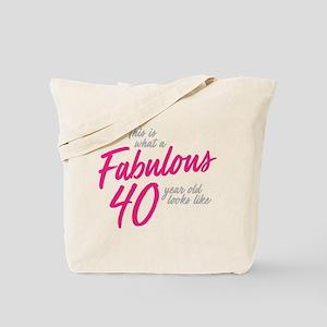 Fabulous 40-Year-OId Tote Bag