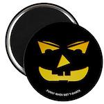 Maniacal Carved Pumpkin Magnet