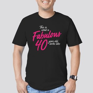 Fabulous 40-Year-OId Men's Fitted T-Shirt (dark)