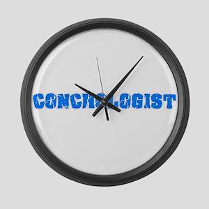 Conchologist Blue Bold Design Large Wall Clock