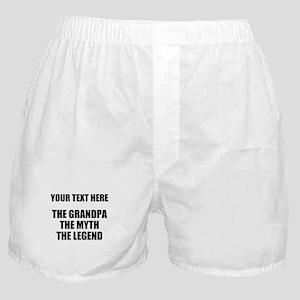 Custom Grandpa Myth Legend Boxer Shorts
