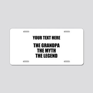 Custom Grandpa Myth Legend Aluminum License Plate