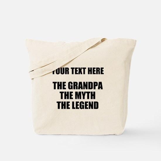 Custom Grandpa Myth Legend Tote Bag
