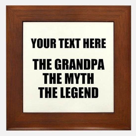 Custom Grandpa Myth Legend Framed Tile