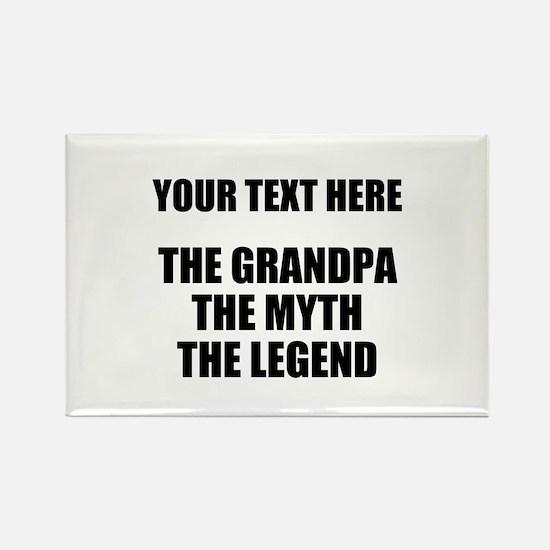 Custom Grandpa Myth Legend Rectangle Magnet