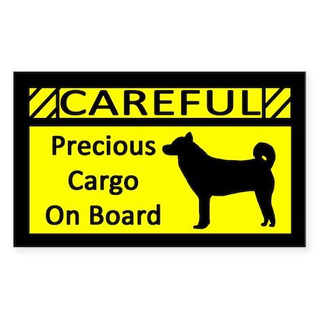 Precious Cargo Shiba Inu Sticker (Rect)