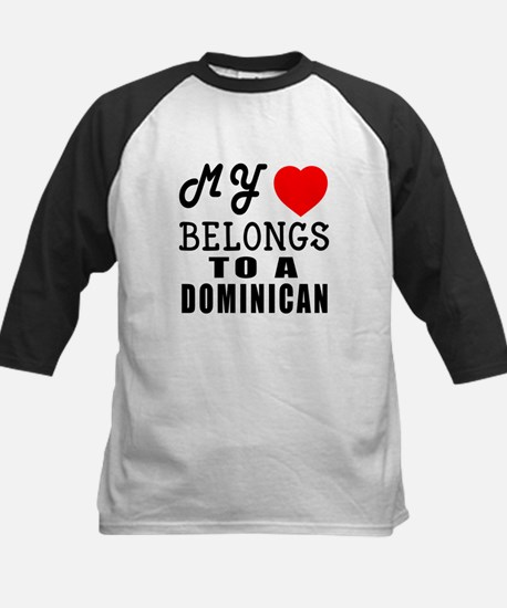 I Love Dominican Kids Baseball Jersey