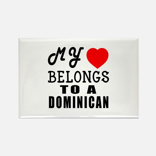 I Love Dominican Rectangle Magnet