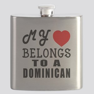 I Love Dominican Flask