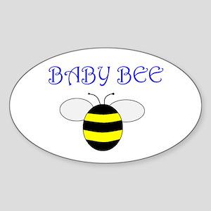 Baby Bee Oval Sticker