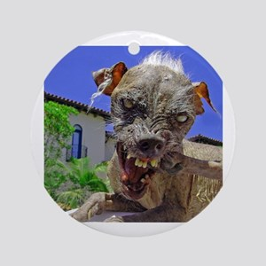 UGLIEST DOG! Round Ornament