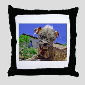 UGLIEST DOG! Throw Pillow