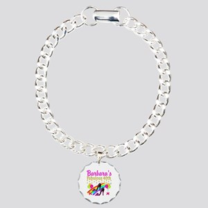 CUSTOM 40TH Charm Bracelet, One Charm