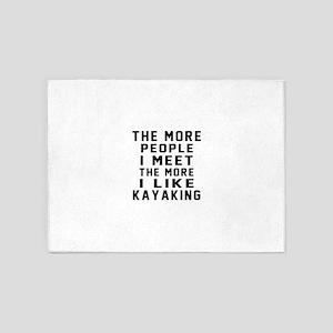 I Like More Kayaking 5'x7'Area Rug