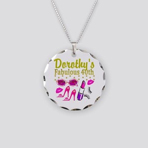 CUSTOM 40TH Necklace Circle Charm