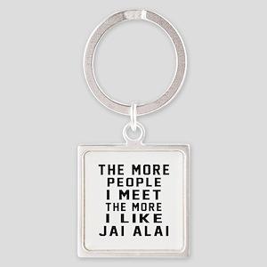 I Like More Jai Alai Square Keychain
