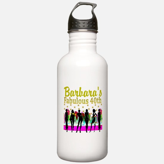 CUSTOM 40TH Sports Water Bottle