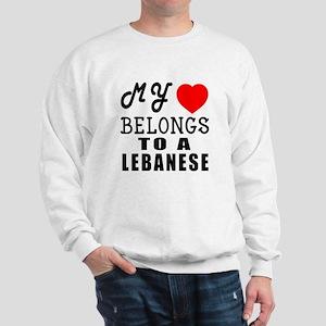 I Love Lebanese Sweatshirt