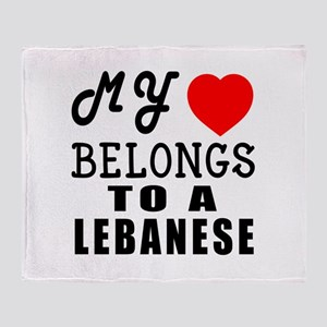 I Love Lebanese Throw Blanket