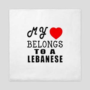I Love Lebanese Queen Duvet