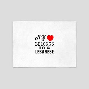 I Love Lebanese 5'x7'Area Rug
