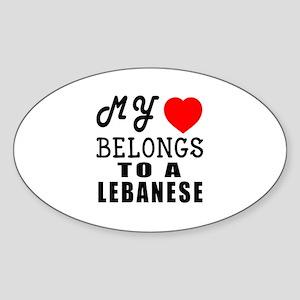 I Love Lebanese Sticker (Oval)