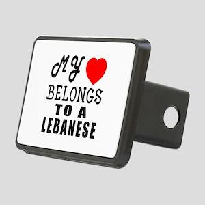 I Love Lebanese Rectangular Hitch Cover