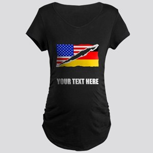 German American Flag Maternity T-Shirt