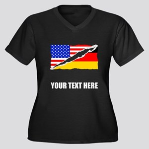 German American Flag Plus Size T-Shirt