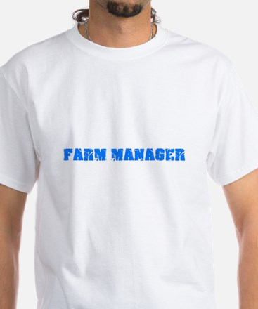 Farm Manager Blue Bold Design T-Shirt