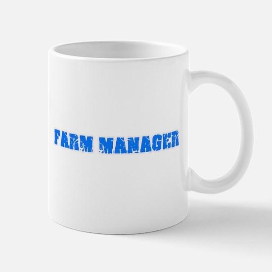 Farm Manager Blue Bold Design Mugs