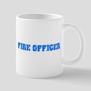 Fire Officer Blue Bold Design Mugs