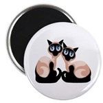 "Siamese Twin Cats 2.25"" Magnet (10 pack)"