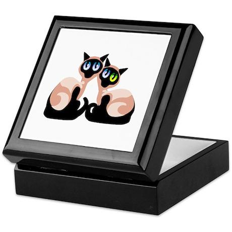 Siamese Twin Cats Keepsake Box