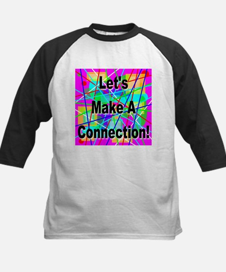 Let's Make A Connection Kids Baseball Jersey