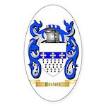 Poulsen Sticker (Oval 50 pk)