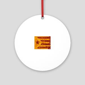 The Estelada - Catalan independenti Round Ornament