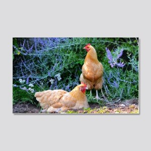 Chickens On The Farm Wall Decal