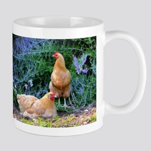 Chickens On The Farm Mugs