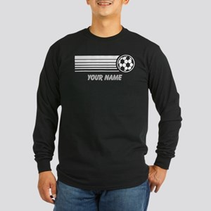 Soccer Personalized Long Sleeve Dark T-Shirt
