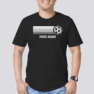 Soccer Personalized Men's Fitted T-Shirt (dark)