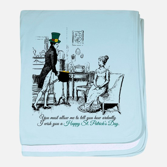 Ardently St. Patrick's Day baby blanket