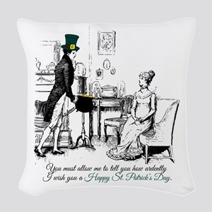 Ardently St. Patrick's Day Woven Throw Pillow