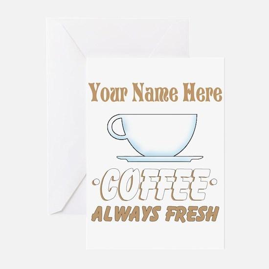 Custom Coffee Shop Greeting Cards