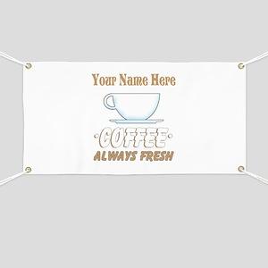 Custom Coffee Shop Banner
