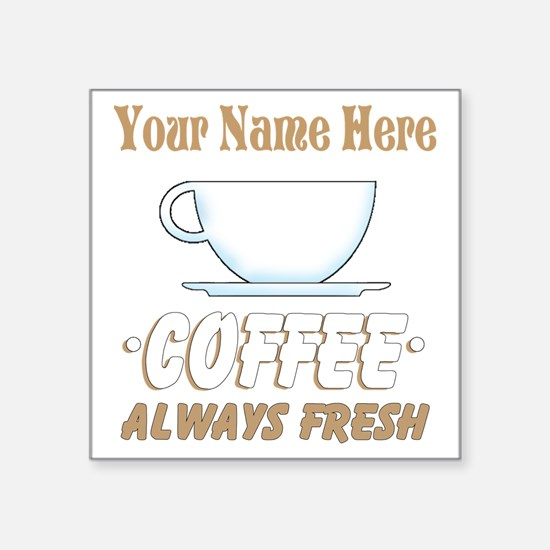 Custom Coffee Shop Sticker