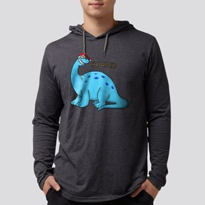 Ho ho christmas dino Long Sleeve T-Shirt