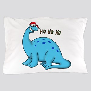 Ho ho christmas dino Pillow Case