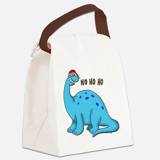 Ho ho christmas dino Canvas Lunch Bag