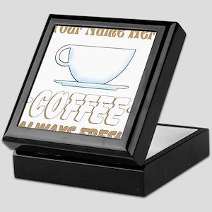 Custom Coffee Shop Keepsake Box